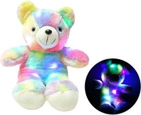 Ursulet plus iluminat LED RGB, inaltime 45 cm, rosu