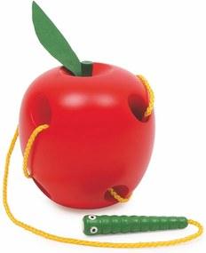 Jucărie motrică din lemn Legler Threading Apple