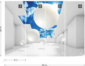 Fototapet GLIX - 3D Sky White + adeziv GRATUIT Papírová tapeta  - 368x254 cm