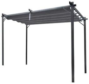 Pergola gradina/terasa, retractabila, gri, 3x4x2.3 m
