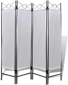 Paravan pliabil alb, 160 x 180 cm