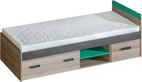 copii pat UNI 7 / / arc 195x80x12 cm