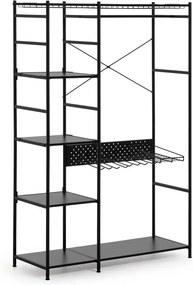 Dulap La Forma Storn, înălțime 182 cm, negru