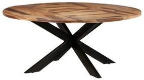 321686 vidaXL Masă de bucătărie 175x75cm lemn acacia finisaj sheesham rotund