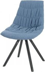 Scaun tapitat cu stofa, cu picioare de lemn Klass Dark Blue, l47xA54xH80 cm