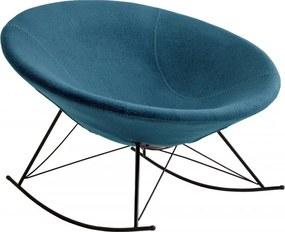 Scaun balansoar tapițat albastru