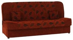 Coltar extensibil material textil caramiziu/model ASIA NEW