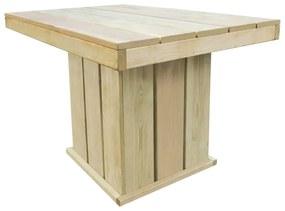 44908 vidaXL Masă de grădină, 110 x 75 x 74 cm, lemn de pin tratat