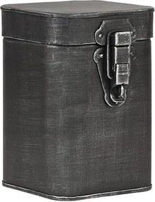 Recipient metalic pentru depozitare LABEL51, înălțime 17 cm, negru