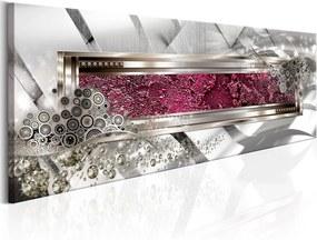 Tablou pe pânză - Hidden Pink 135x45 cm