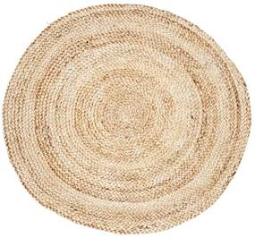 Covor din Iuta - Iuta Nature Diametru(100cm)