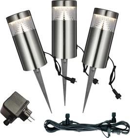 Globo 34075-3 Lampă de grădină POGGY oțel inoxidabil 3 x max. 3W 200lm 3000K IP44 A