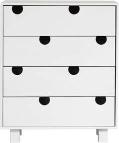 Comodă cu patru sertare Karup Design House, alb