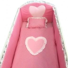 Lenjerie de pat 120x60 cm Te iubesc puisor roz