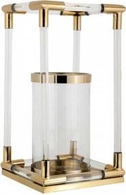 Suport lumanare din sticla Bartley, gold