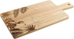Tocator Tropical din lemn natur 33x15x1 cm