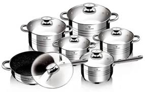 Set oale si tigai otel inoxidabil (12 piese) Gourmet Line Blaumann BL 3167