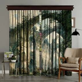 Set 2 draperii Curtain Runna, 140 x 260 cm