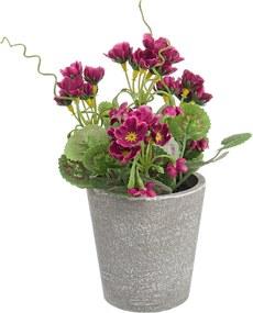 Flori artificiale burgundy in ghiveci Ø7x16h