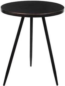 Masa laterala Palm, metal, neagra, 51,5 x 40 x 40 cm