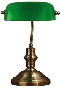Veioza din metal si sticla verde 42 cm Bankers Markslojd