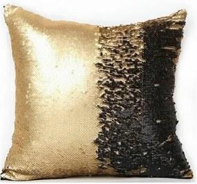 Domarex Față de pernă cu paiete Flippy neagră, 40 x 40 cm