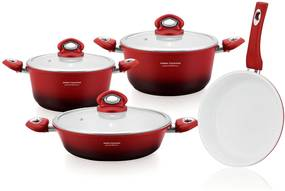 Set oale granit 7 piese Imperial Collection IM-1007ST,ROSU IM-1007ST1