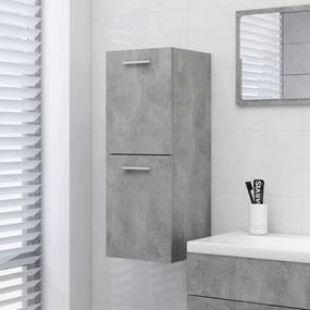 804992 vidaXL Dulap de baie, gri beton, 30x30x80 cm, PAL