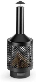 Blumfeldt Essos, cuptor de grădină , gresie de grădină, Ø45 cm, pereți cu zăbrele, foi de oțel, culoare neagră