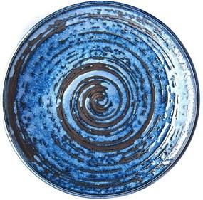 Farfurie din ceramică MIJ Copper Swirl, ø 25 cm, albastru