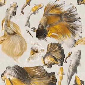 MINDTHEGAP Tapet - Goldfish Ivory