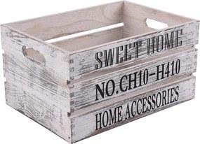 Lădiţă din lemn Sweet Home, 40 x 30 cm