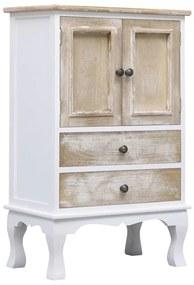 284181 vidaXL Dulap cu sertare, alb, 50 x 30 x 80 cm, lemn