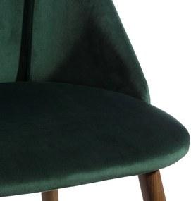 Scaun Verde din Poliester si Metal 49cm IXIA - Poliester Verde Lungime (49cm) x Latime (54cm) x Inaltime (83)