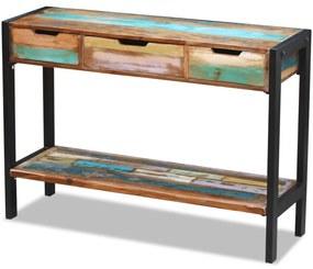 243273 vidaXL Servantă cu 3 sertare din lemn reciclat de esență tare