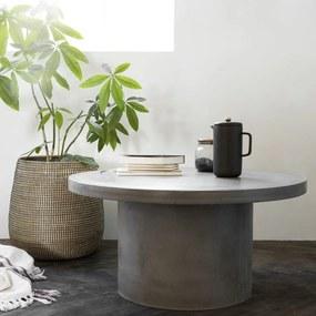 Masuta Cafea Rotunda de Beton GALLERY - Beton Gri S-diametru(65cm) x inaltime(45cm)