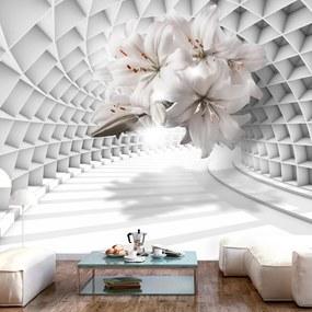 Fototapet Bimago - Flowers in the Tunnel + Adeziv gratuit 150x105 cm
