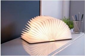 Veioză cu LED Gingko Large, formă de carte, maro