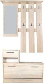 Set mobilier hol Filio stejar alb