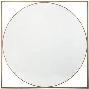 Oglinda de perete Nihoa, MDF, aurie, 76 x 76 cm