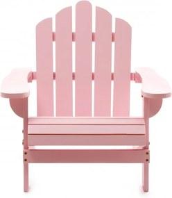 Scaun pentru copii din lemn de cedru Adirondack Kids roz pastel