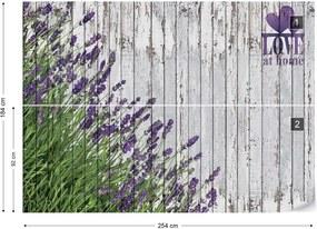 Fototapet GLIX - Lavender Rustic Love Vintage  + adeziv GRATUIT Papírová tapeta  - 254x184 cm