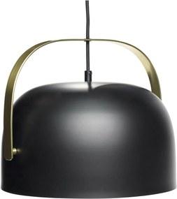 Lampa Neagra din Metal si Alama - Metal Negru Diametru( 30 cm) x Inaltime( 26 cm)