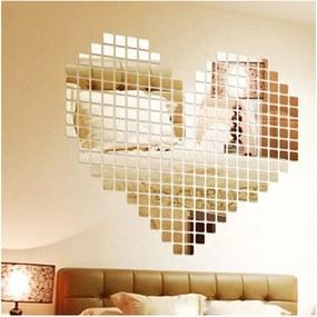 Set autocolante de perete tip oglindă Ambiance Mosaic, 100 buc.