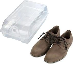 Cutie transparentă pentru depozitarea pantofilor Wenko Smart, lățime 21 cm