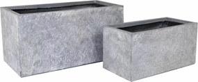 Ghiveci argila Arizona Bigular Washed Grey S2