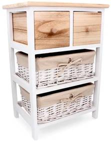 Comoda lemn, 4 sertare, 40x29x58 cm, natur