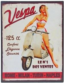 Tăbliță metal Antic Line Vespa No.1, 28x22 cm