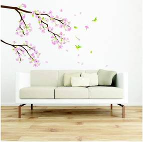 Set autocolante Ambiance Tree Branch Pink Flowers