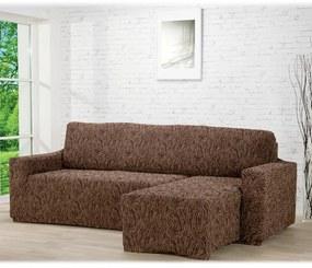 Huse care se întind foarte bine 3D FUSTA maro canapea cu otoman dreapta (l. 210 - 270 cm)